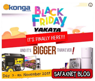 Konga Black Friday Day 3 Yakata Deals November 8th 2017