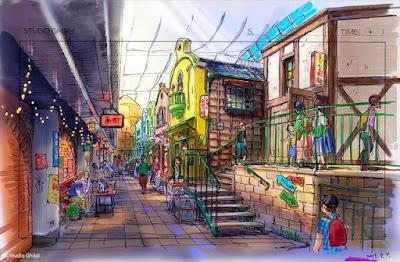 Anime: Nuevos concept Arts para el parque temático de Ghibli