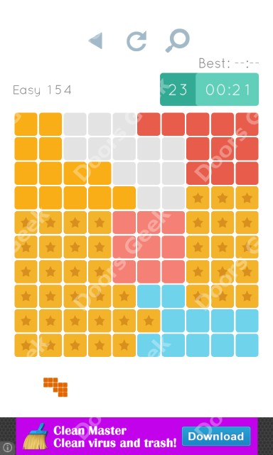 Cheats, Walkthrough for Blocks and Shapes Level 154