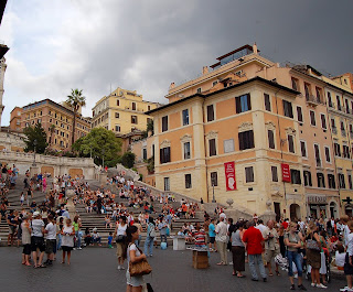 The Spanish Steps, and, on the corner,  Keats's house