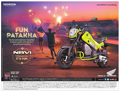 Honda Navi Bike Fun Patakha | October 2016 Diwali/Dassehra festival discount offers