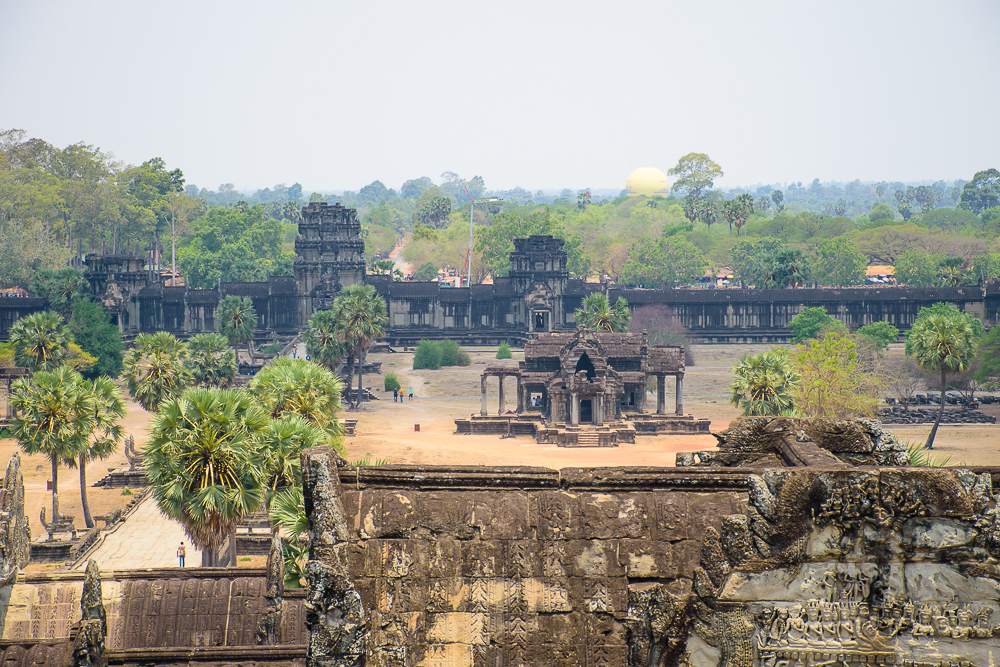 top of the temple view angkor wat temple siem reap cambodia