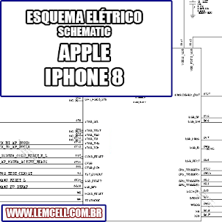 Esquema Elétrico Smartphone Apple iPhone 8 Manual de Serviço schematic service manual diagram