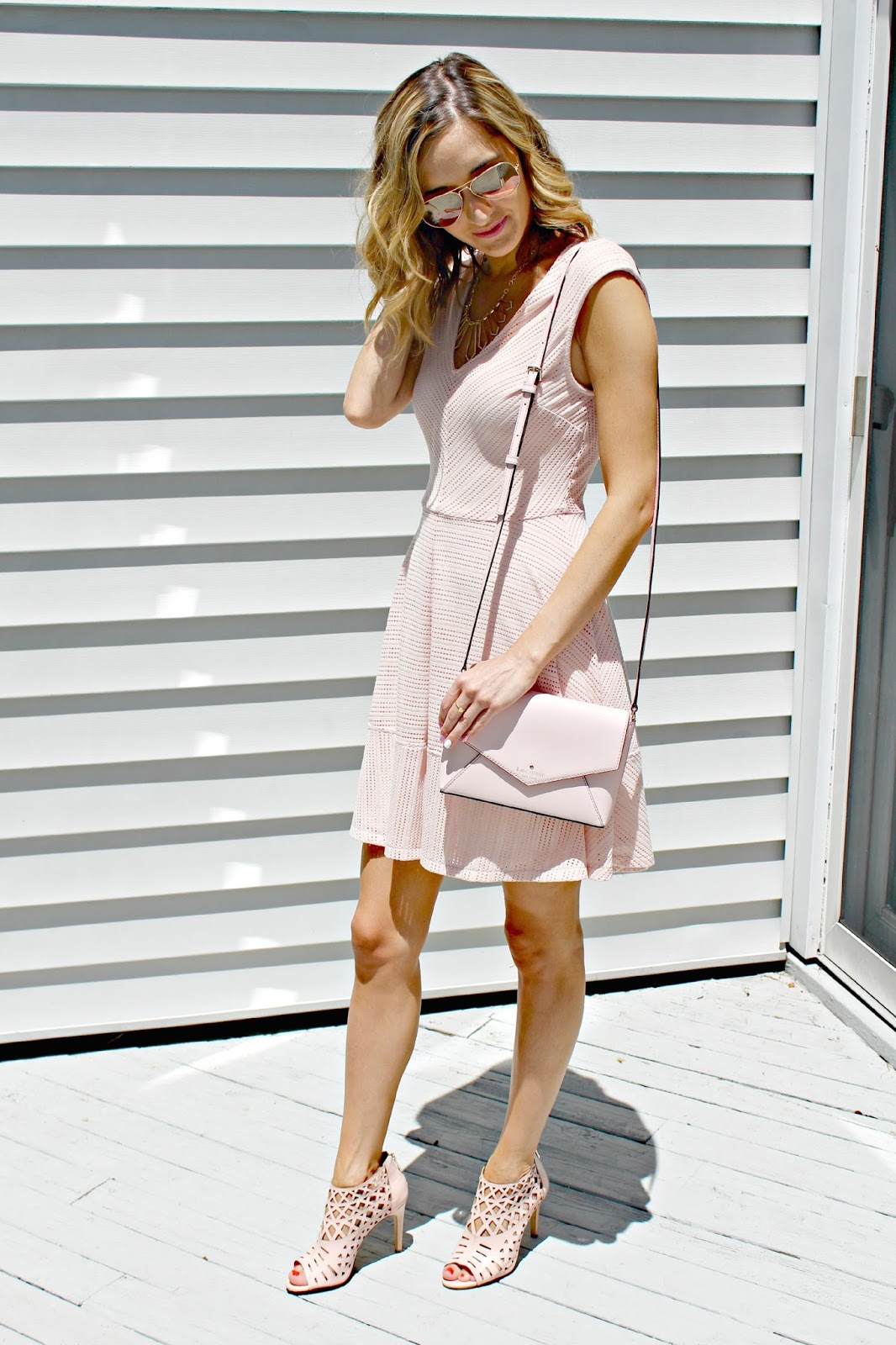 blush bar iii mesh dress