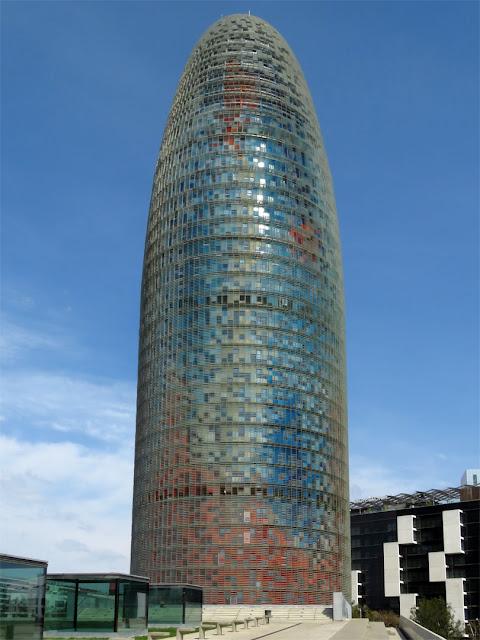 Torre Agbar by Jean Nouvel and Fermín Vázquez, Avinguda Diagonal, Barcelona