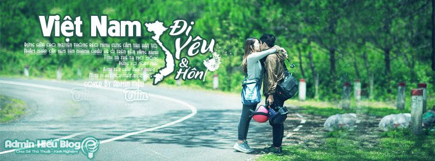 [PSD] Ảnh bìa Việt Nam đi yêu và hôn