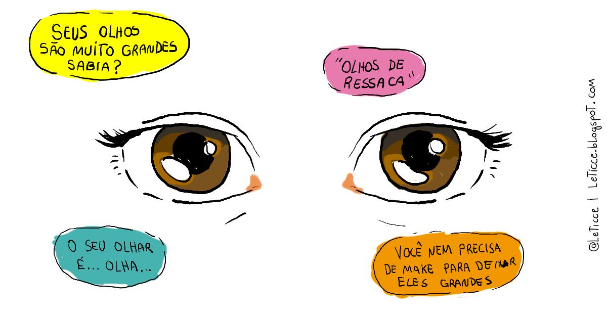 Leticce Coisas Legais Tirinhas Desenhos Olhos Grandes