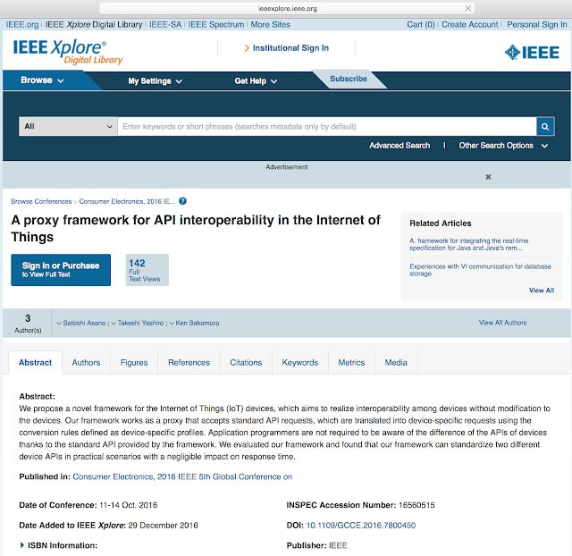 IEEE desarrolló un framework basado en API para IoT imagen