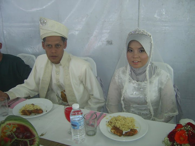 wedding caterer decor, malay couple