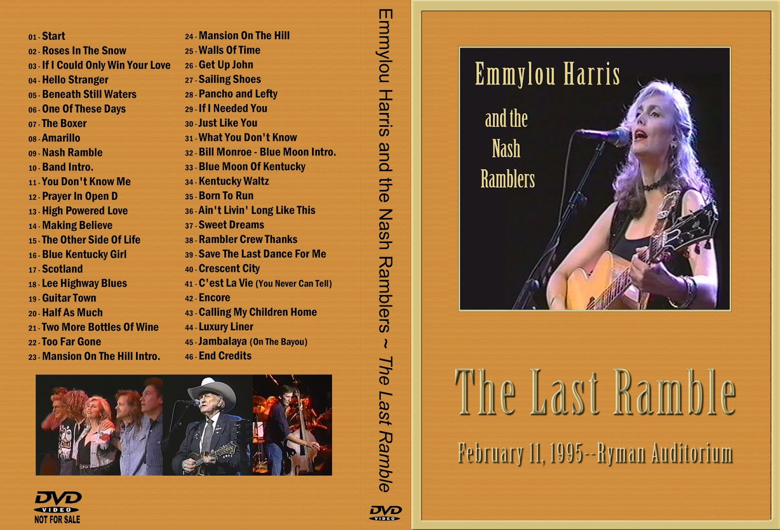 Peter C's Music TV & Video Archives: EMMYLOU HARRIS on DVD Emmylou Harris Song List