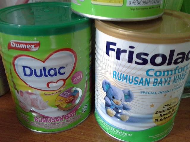 Susu Frisolac Comfort untuk bayi yang sukar membuang air besar + baby colic + bayi yang selalu kembung perut