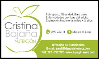 Tarjetas de presentación para nutriologa