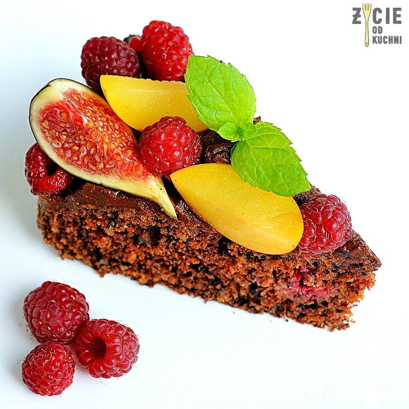 dyniowe ciasto, dynia, czekoladowe ciasto, jesienne ciasto, zycie od kuchni