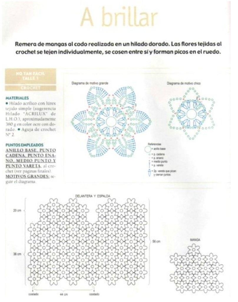 Jersey media manga de flores 6 petalos