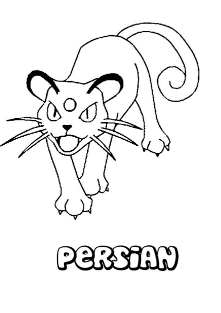 Persian Pokemon Coloring Page