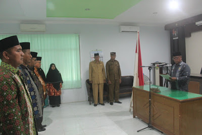 Kakankemenag Tanjungbalai Lantik Pejabat Struktural Eselon IV