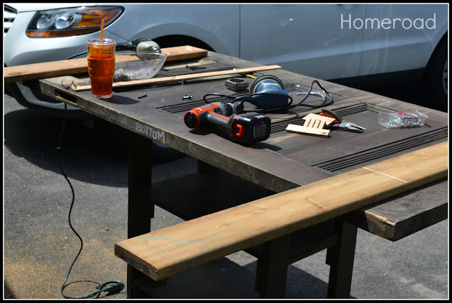 Supplies used to make the headboard