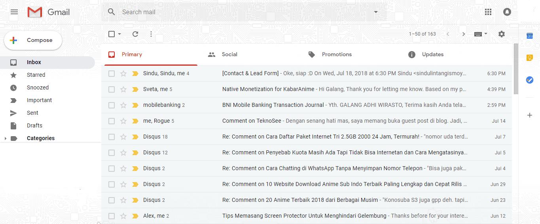 Rollback ke tampilan email Google lama jika tak suka tampilan baru