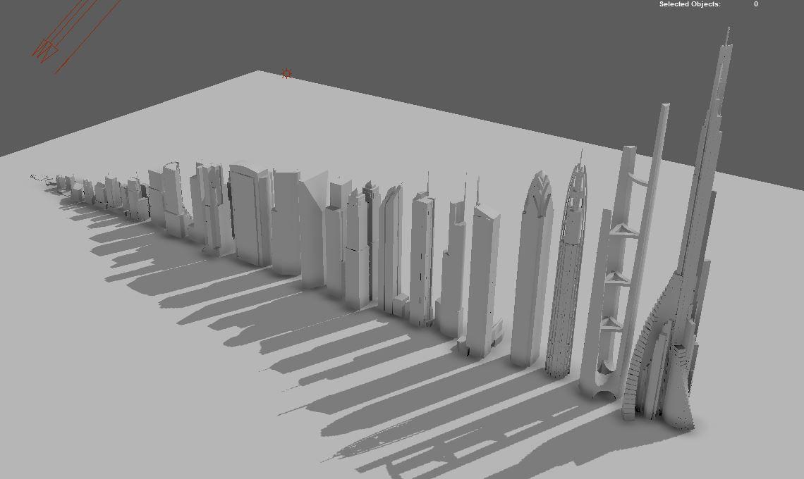 Live Music Visuals: A City and Night - visualization progress #1