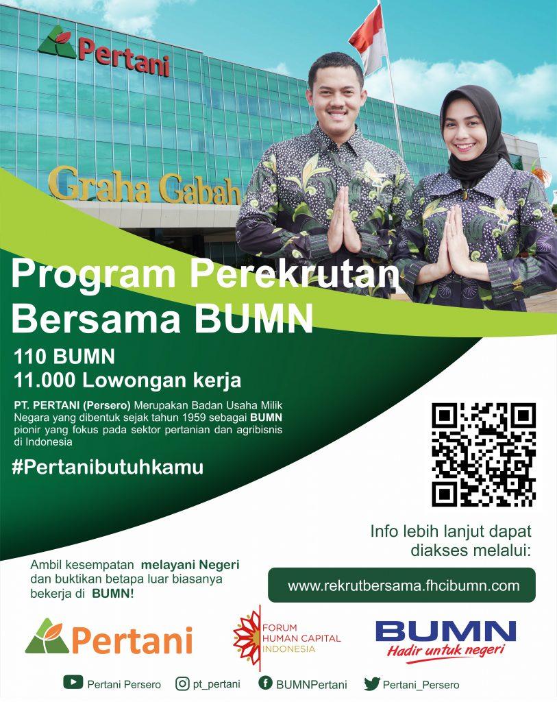 Lowongan Kerja BUMN PT Pertani (Persero)