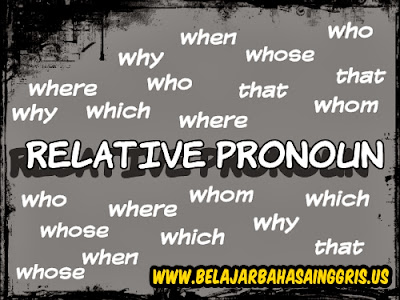 Apa itu Relative Pronoun, Pengertian Relative Pronoun, Jenis-jenis Relative Pronoun, Penggunaan Relative Pronoun dalma Kalimat, Contoh-contoh Relative Pronoun, Relative Pronoun Who, Relative Pronoun Where, Relative Pronoun That, Relative Pronoun Why, Relative Pronoun Whom, Relative Pronoun Why, Relative Pronoun WHich, Relative Pronoun When.