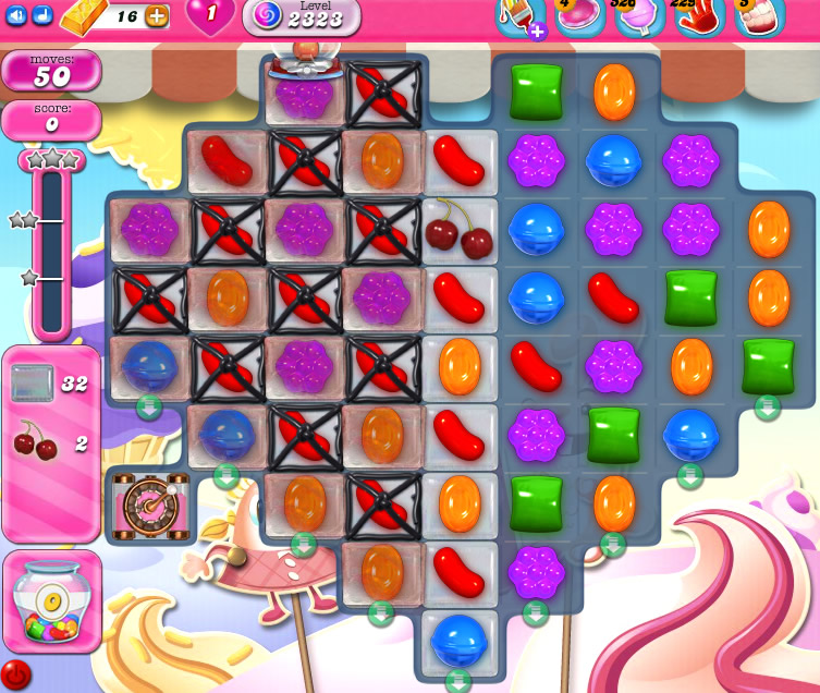 Candy Crush Saga level 2323