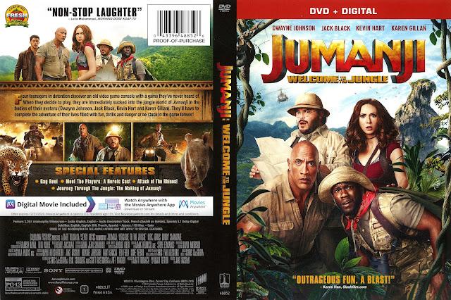 Jumanji: Welcome to the Jungle DVD Cover
