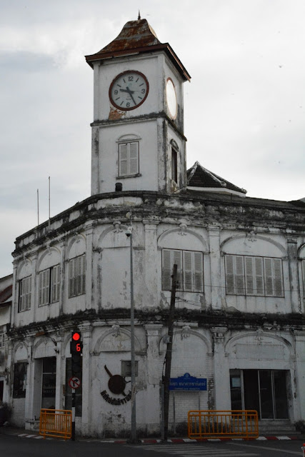 Phuket Town clock tower ruin