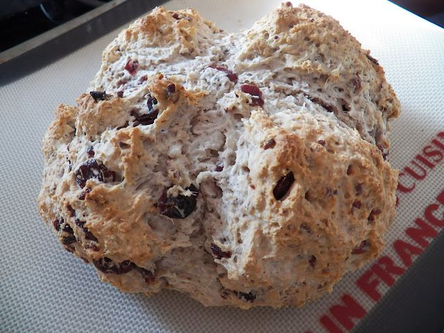 Irish Soda Bread with Craisins and Pecans