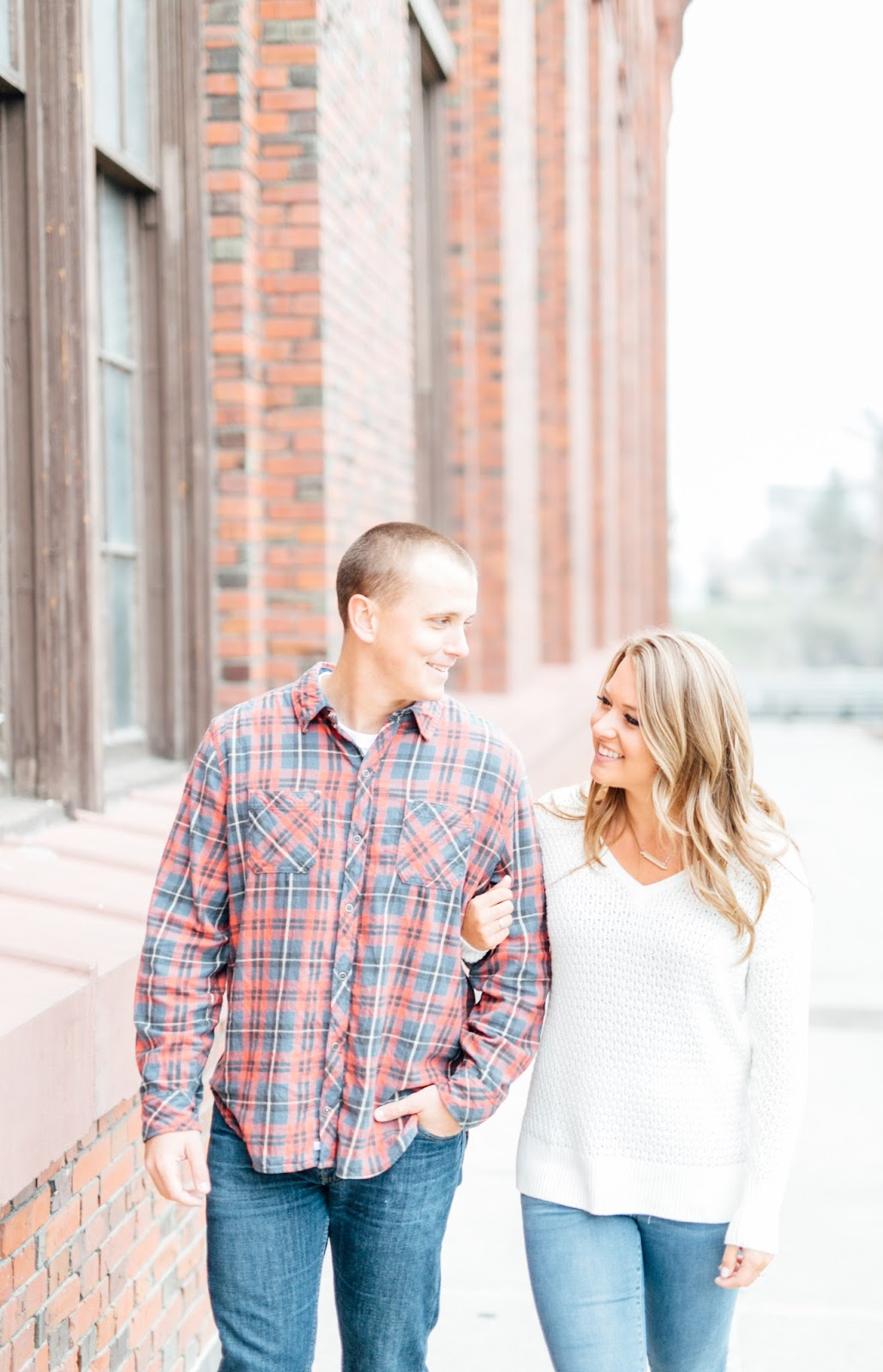 Downtown Engagement Photography by Something Minted