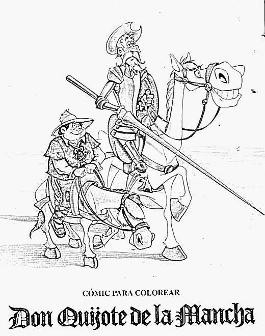 Murales de Don Quijote ~ P. C. El Quijote y Cervantes con