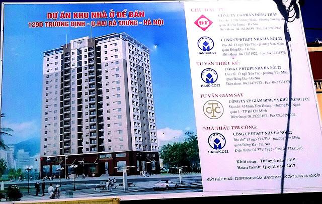 Vị trí Dự án Chung cư Cao cấp 129D Trương Định