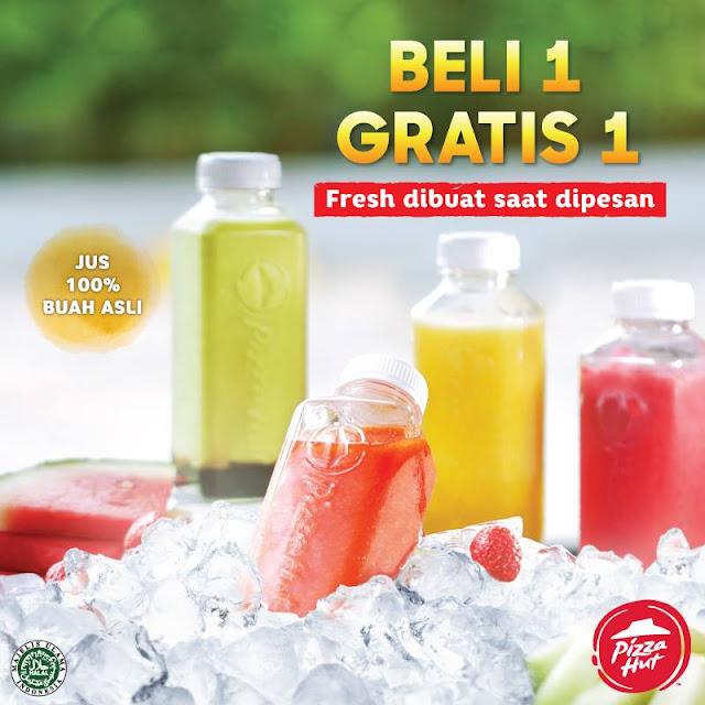 Promo PIZZA HUT Terbaru Beli 1 Gratis 1 Fresh Juice