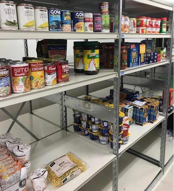 parents set up food pantry at annandale hs