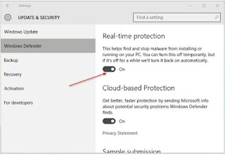 Cara Mengaktifkan & Menonaktifkan Antivirus Windows Defender di Windows 10