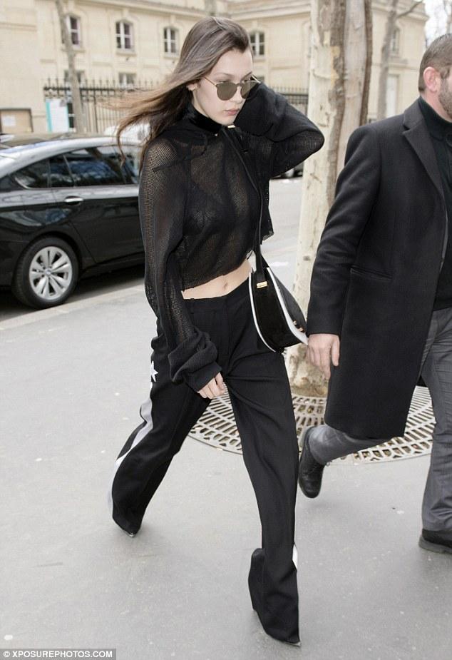 Bella Hadid Carries Tyler Alexandra Bag
