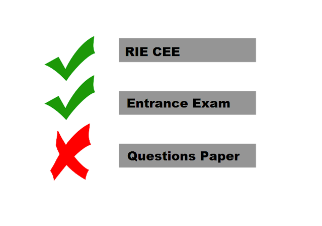 Regional B.ed Entrance Question Paper Pdf Free Download (RIE CEE)