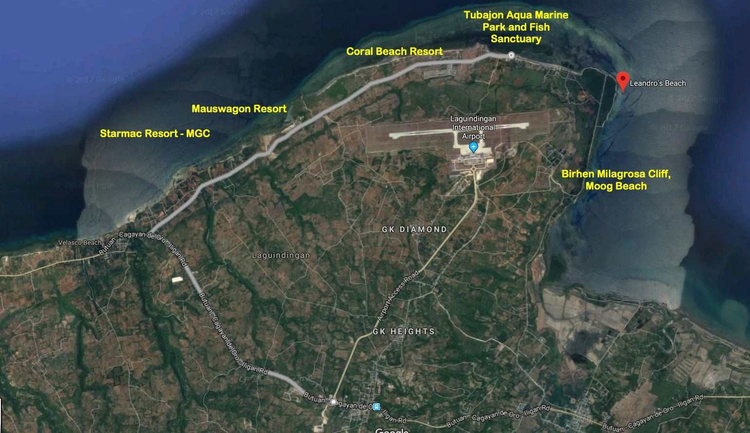 1adff2bb67 Here s the Map as a guide where in laguindingan these resorts are located