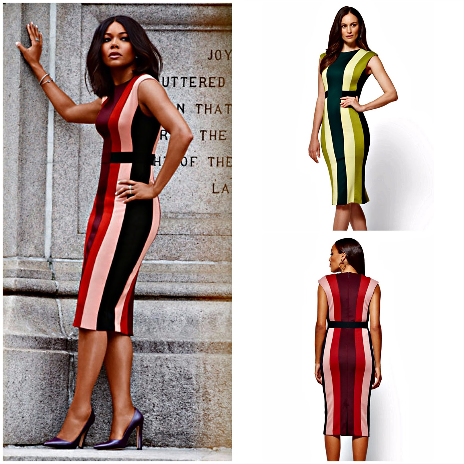 Click here to buy my favorite dress from her collection, 7th Avenue - Colorblock Sheath Dress