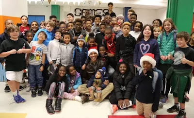 Barack Obama Brings Christmas To Children In Boys And Girls Club