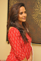 Anasuya Bharadwaj in Red at Kalamandir Foundation 7th anniversary Celebrations ~  Actress Galleries 031.JPG