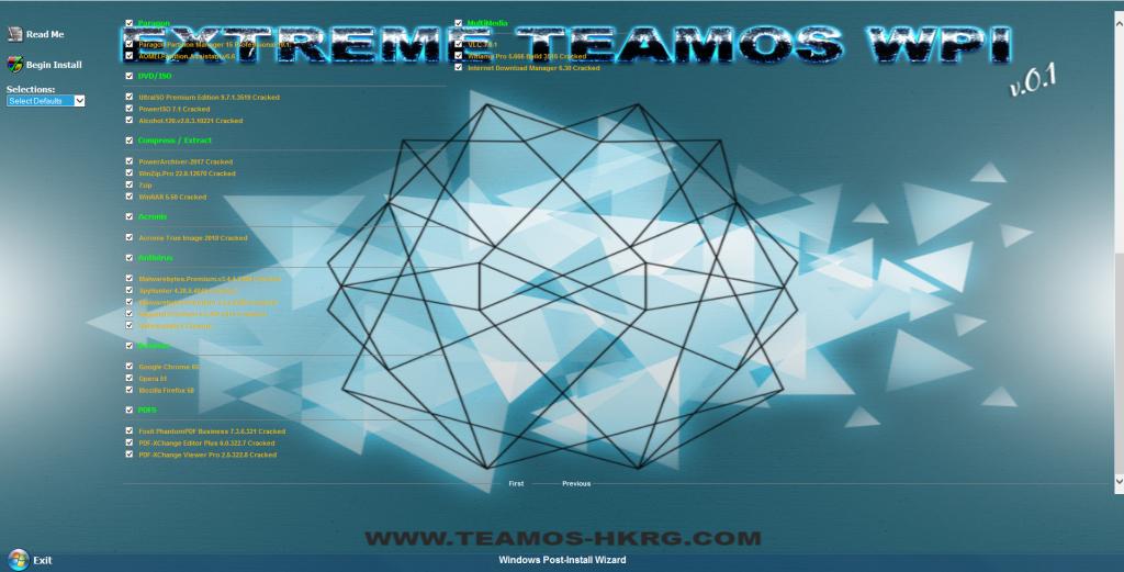 تحميل اسطوانة البرامج الصامتة 2018 | Official Extreme Teamos Wpi V0.1