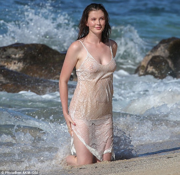 Ireland put her cleavage firmly on display in the sexy negligee
