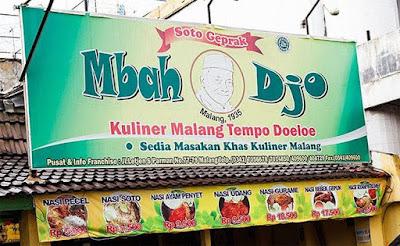 makanan khas malang tempo dulu soto geprak mbah djo malang