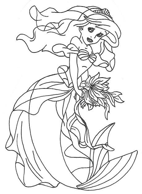 Ariel Dress  Ariel Dress Mermaid Cartoonkids Coloring Pagescoloring  Bookdisney Princess
