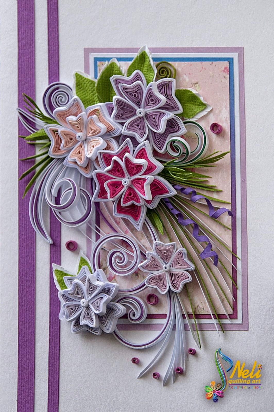 neli quilling art quilling card 148 cm 105 cm