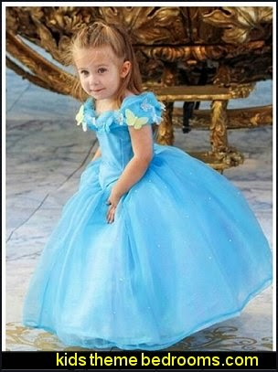 Cinderella dress blue Ella 's princess dress Costume butterfly girl
