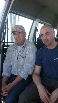 Pesca con i tio en el espigón de Huelva