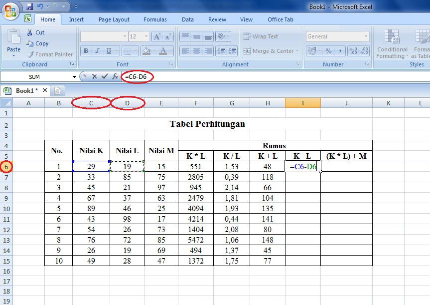 tutorial, cara, rumus, microsoft, excel, fungsi, operasi, matematika