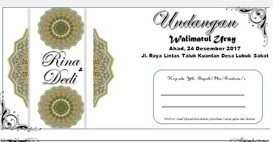 Download Contoh Undangan Pernikahan Walimatul Ursy Dengan ...